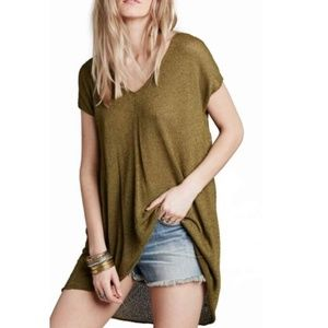 Free People Take it Easy  V-Neck Tunic Top